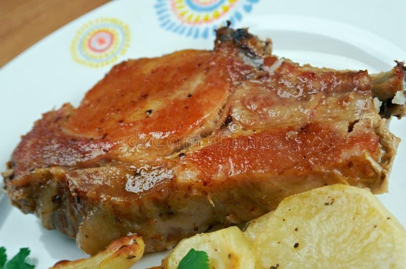 Schweinefleisch gebackene Lenden lizenzfreie stockfotografie
