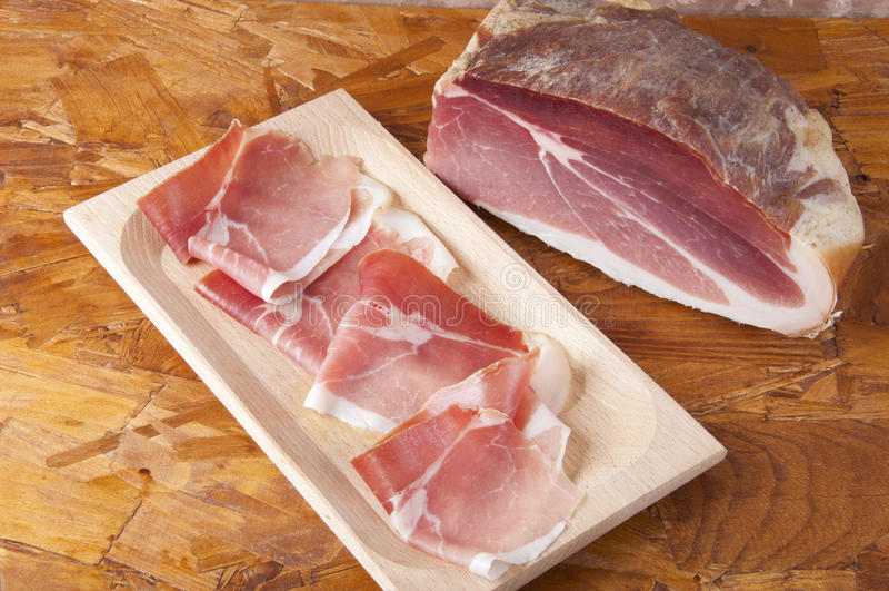 Schweinefleisch Kurierter Schinken Lizenzfreies Stockbild