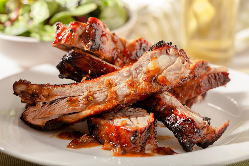 Schweinefleisch-Schweinsrippchen lizenzfreies stockfoto