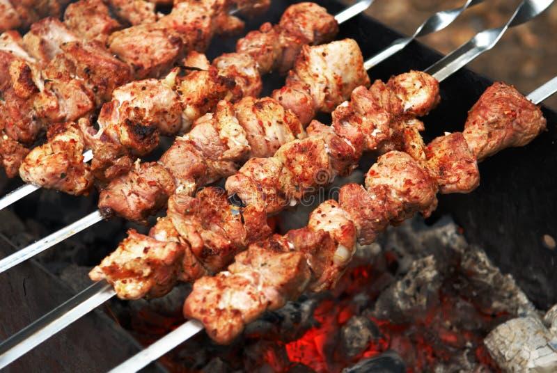 Schweinefleischgrill lizenzfreies stockfoto