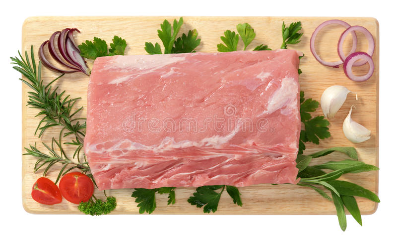 Schweinelende lizenzfreies stockfoto