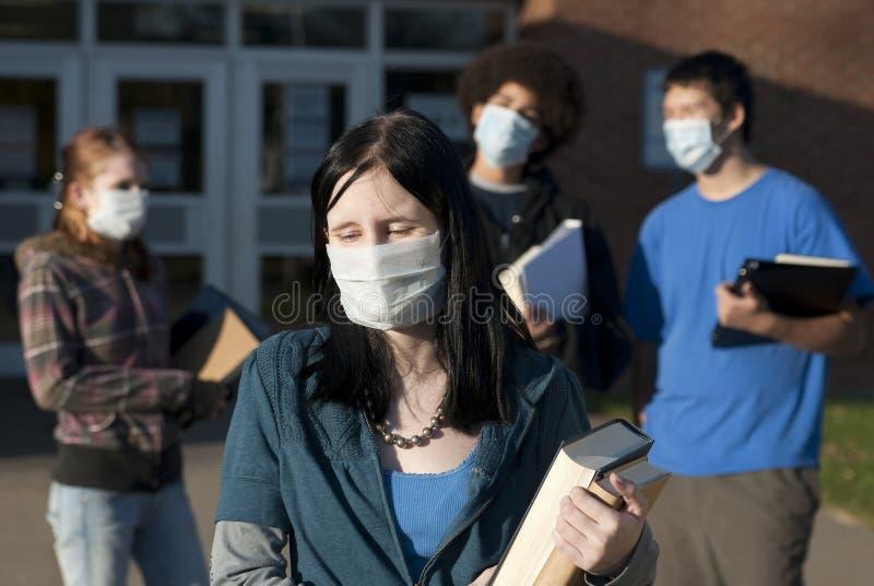 Schweingrippe an der Schule lizenzfreie stockfotos