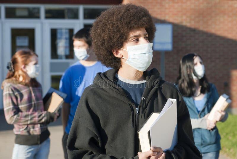 Schweingrippe an der Schule stockfotos