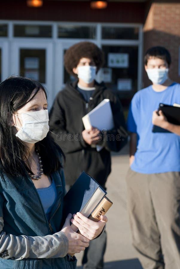 Schweingrippe an der Schule stockfotografie