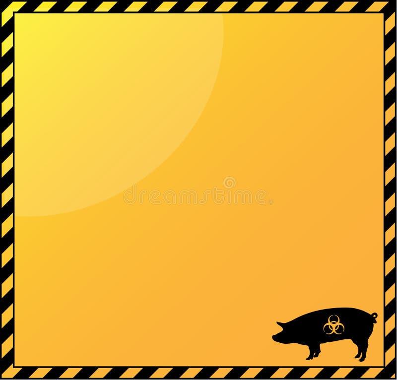 Schweingrippe-Gefahrenhintergrund vektor abbildung