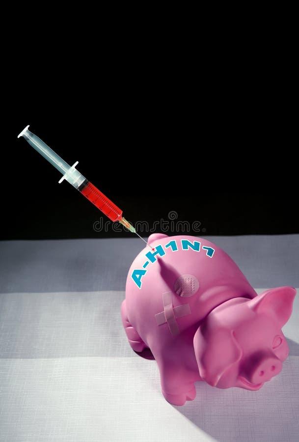 Schweingrippe-Grippe Einspritzung, Impfstoff a-h1n1 lizenzfreie stockfotografie
