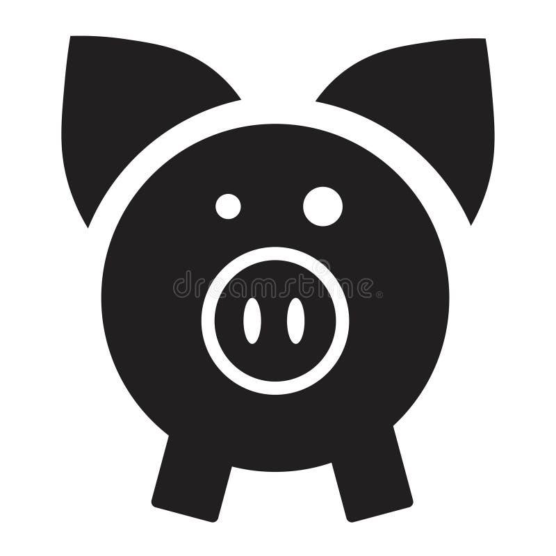 Schweinikone in der flachen Art vektor abbildung