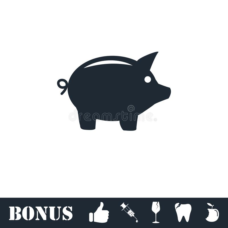 Schweinikone flach vektor abbildung