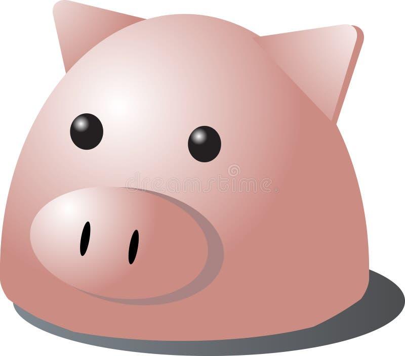 Schweinkarikatur stock abbildung