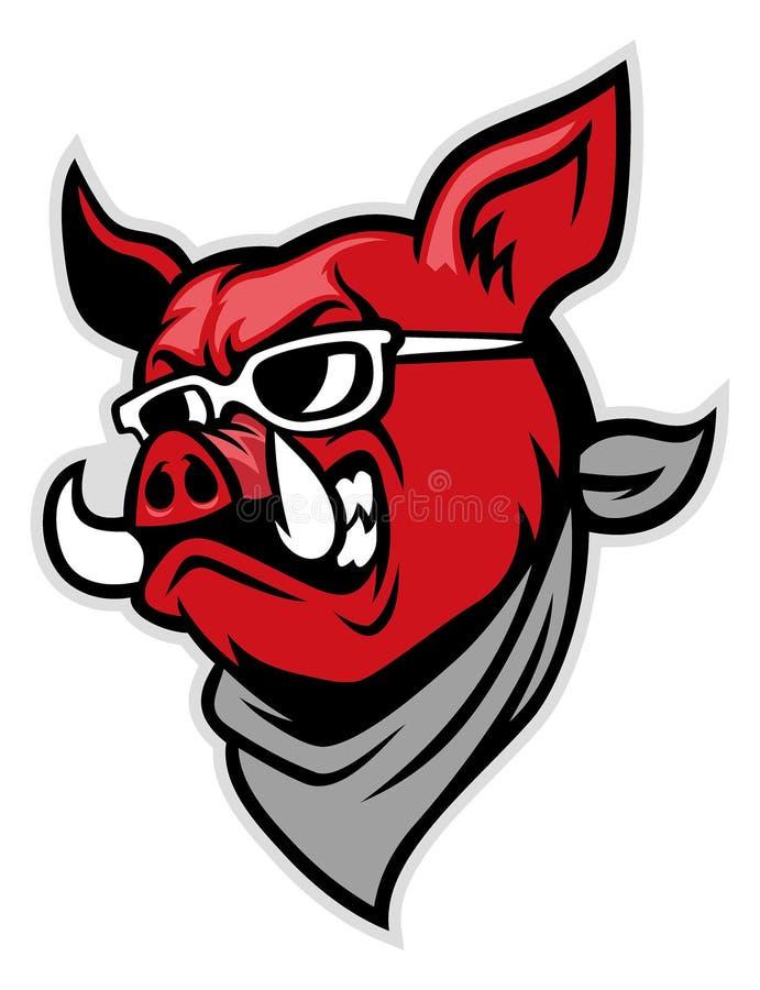Schweinkopfabnutzung ein Schal stock abbildung
