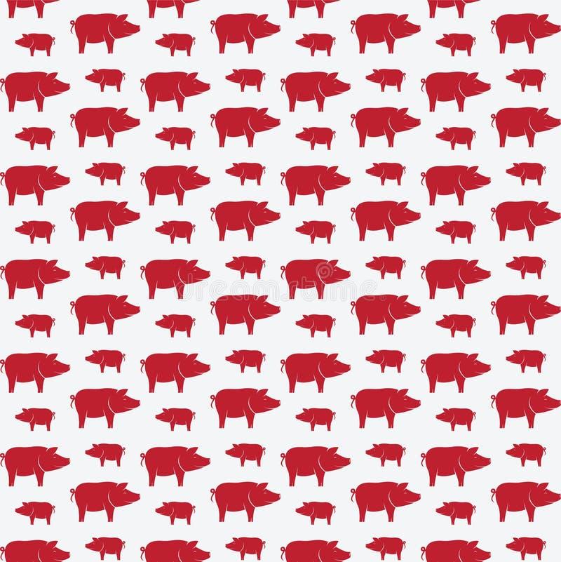 Schweinvektorkunst-Hintergrunddesign für Gewebe und Dekor stock abbildung