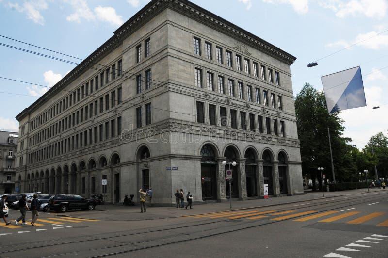 Schweiz: Den schweiziska National Bank i ZÃ-¼rik-stad arkivfoto