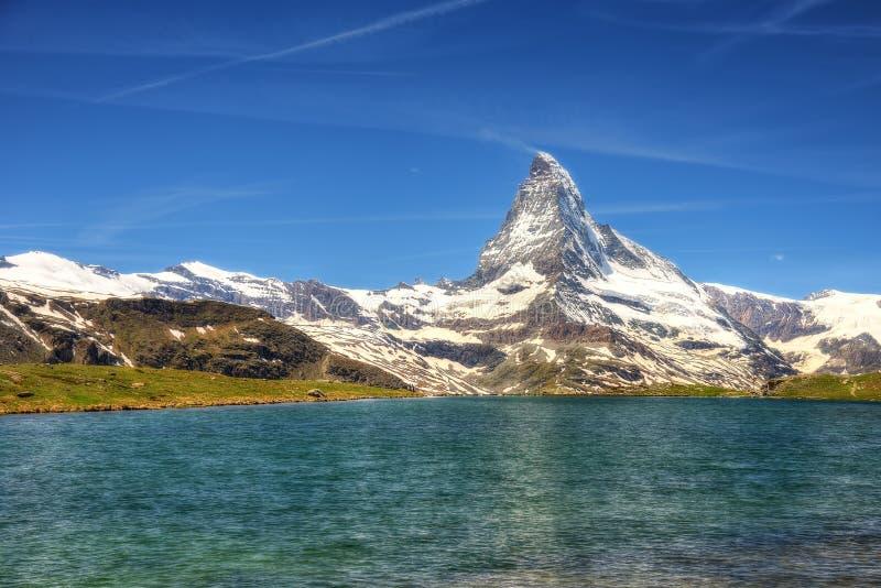 Schweiz Matterhorn fotografering för bildbyråer