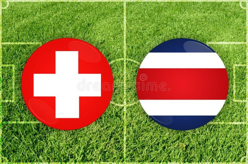 Schweiz vs den Costa Rica fotbollsmatchen vektor illustrationer
