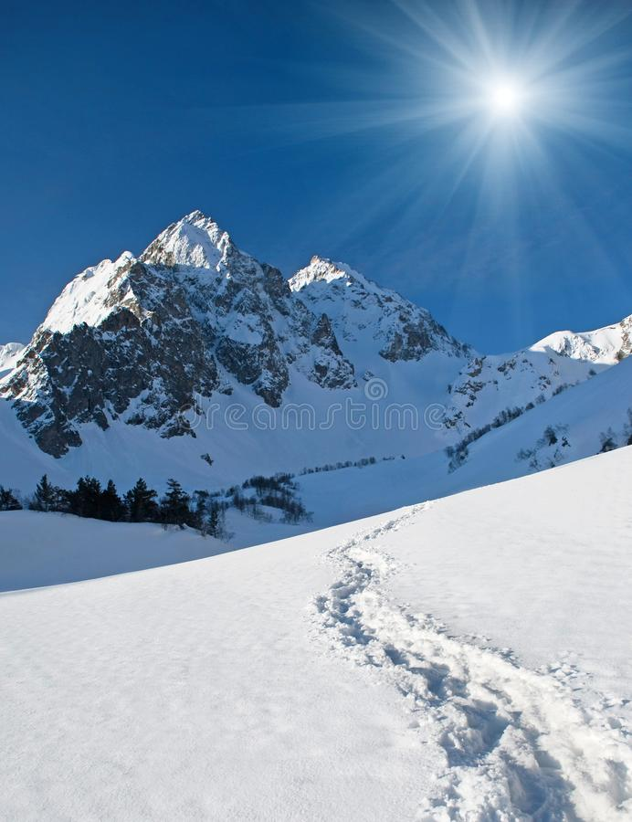 schweizare för snow för alpsfotstegpizol royaltyfria bilder