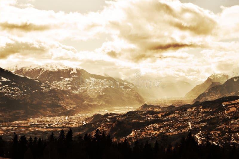 Schweizer Alpen, Landschaft lizenzfreie stockbilder