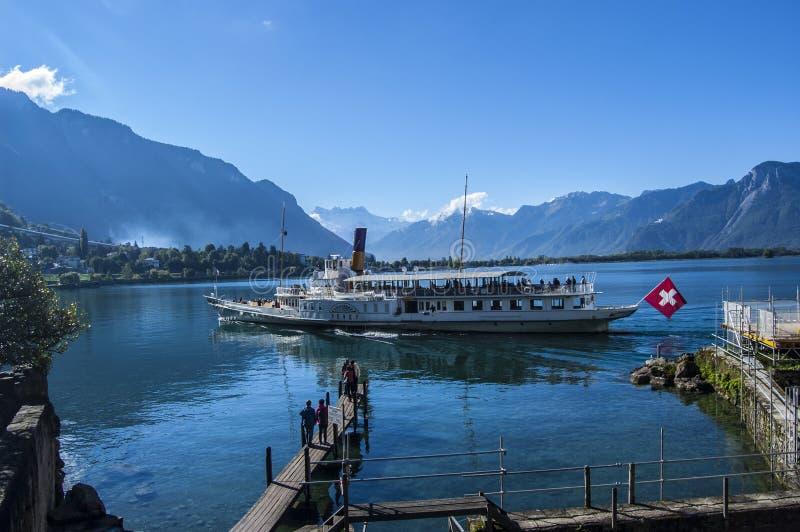 Schweizer Boot stockfotografie