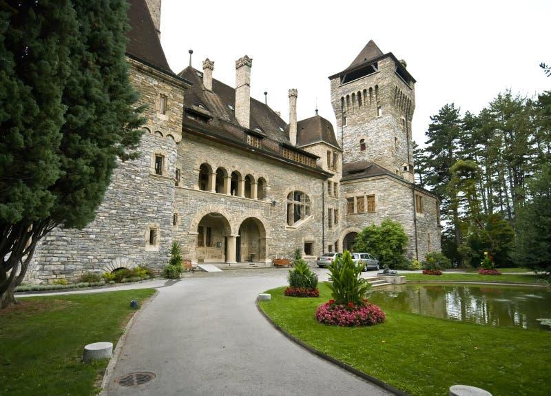 Schweizer Chateau lizenzfreie stockfotografie