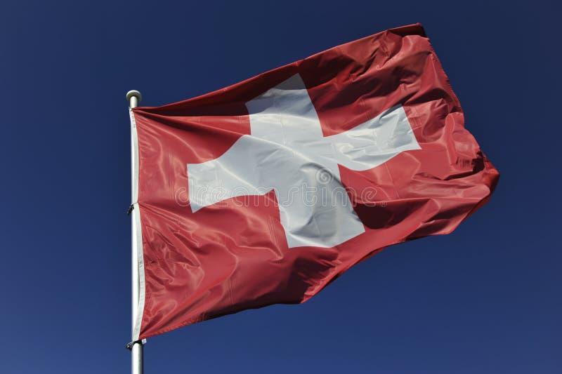Schweizer Flagge lizenzfreies stockbild