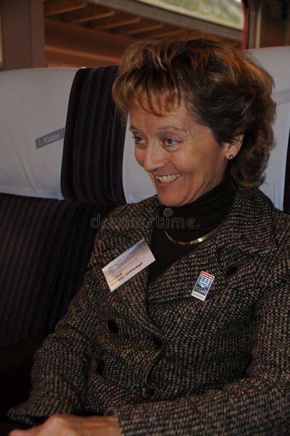 Schweizer Kanzler und Justizminister Eveline Widmer-Schlumpf lizenzfreies stockbild