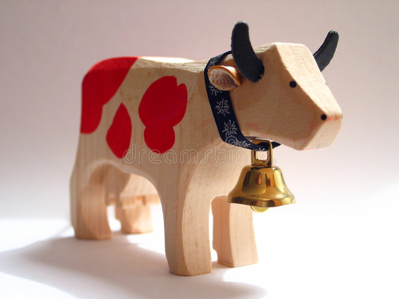 Schweizer Kuh lizenzfreie stockfotografie
