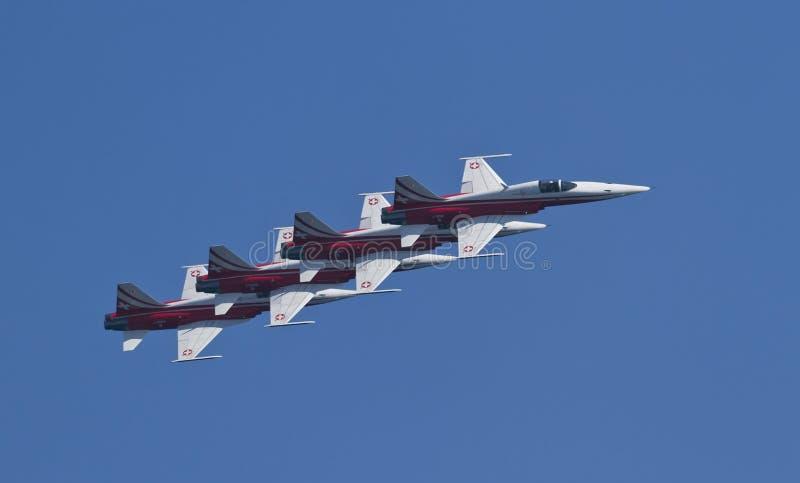 Schweizer Luft-Patrouille stockfotografie