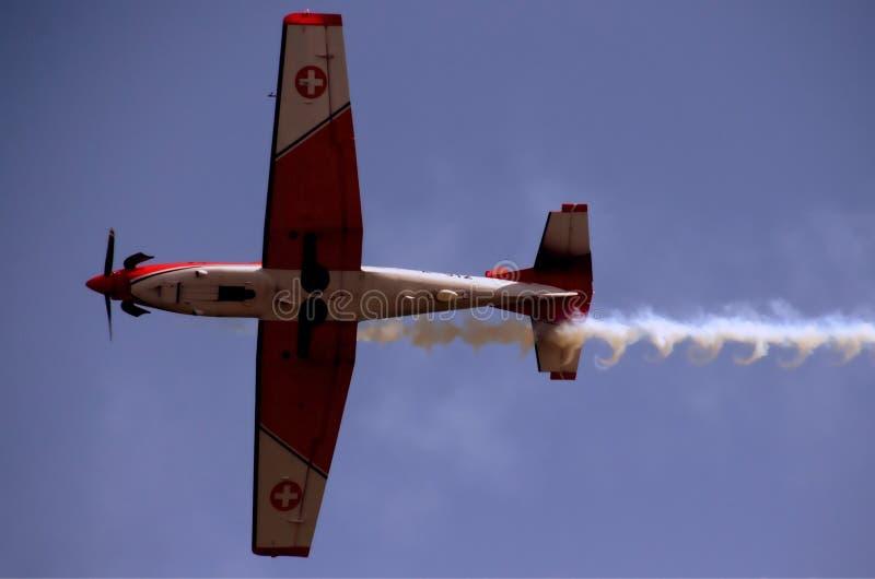 Schweizer Luftwaffe - akrobatisches Team PC7 stockfoto