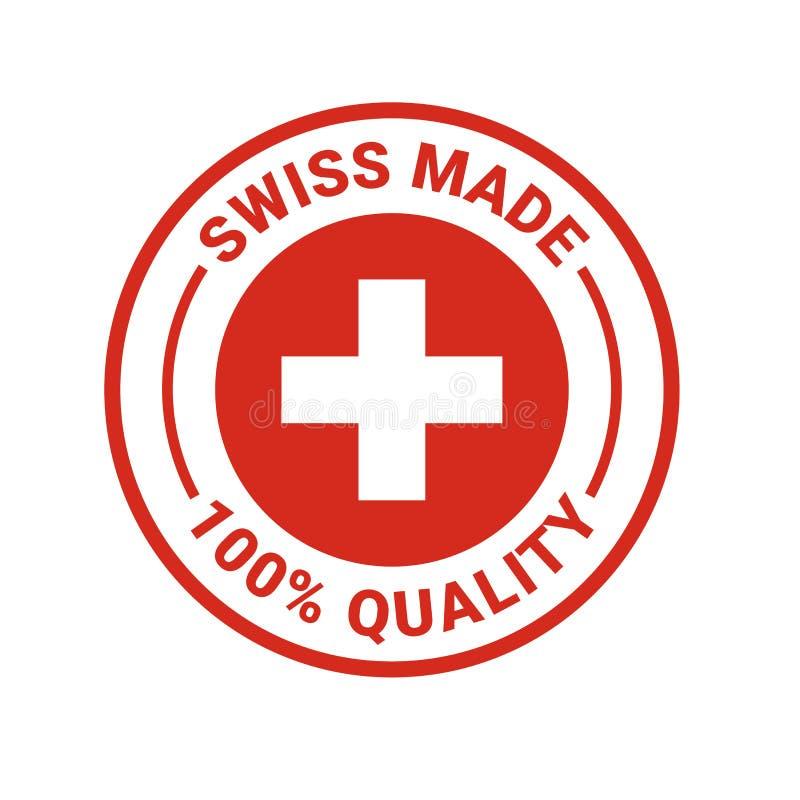Schweizer machte 100-Prozent-Qualitätsvektor-Dichtungsikone lizenzfreie abbildung