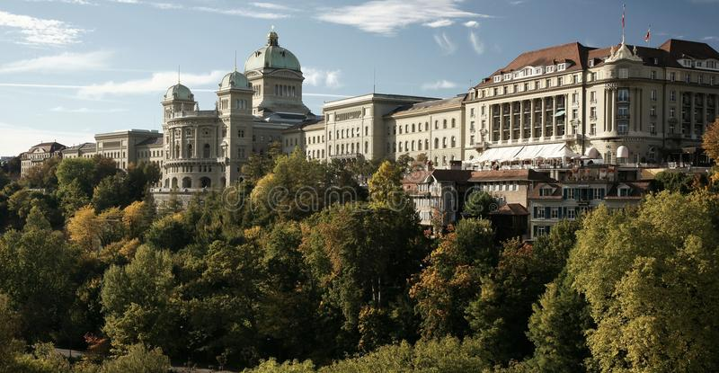 Schweizer Parlament stockbilder