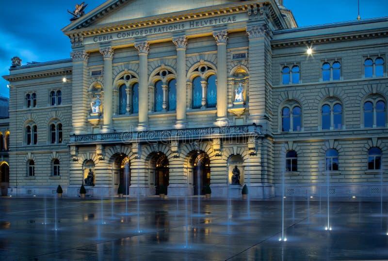 Schweizer Parlamentsgebäude in Bern lizenzfreies stockfoto