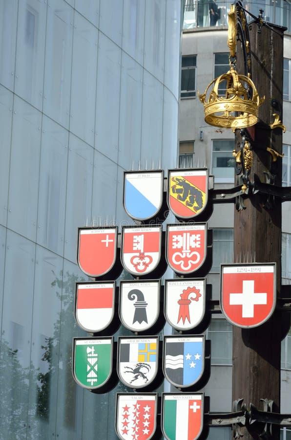Schweizer quadratisches Gedenken stockfotografie