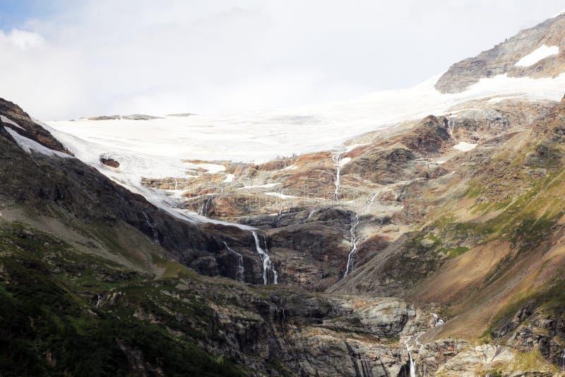 Schweizisk glaciär arkivbilder