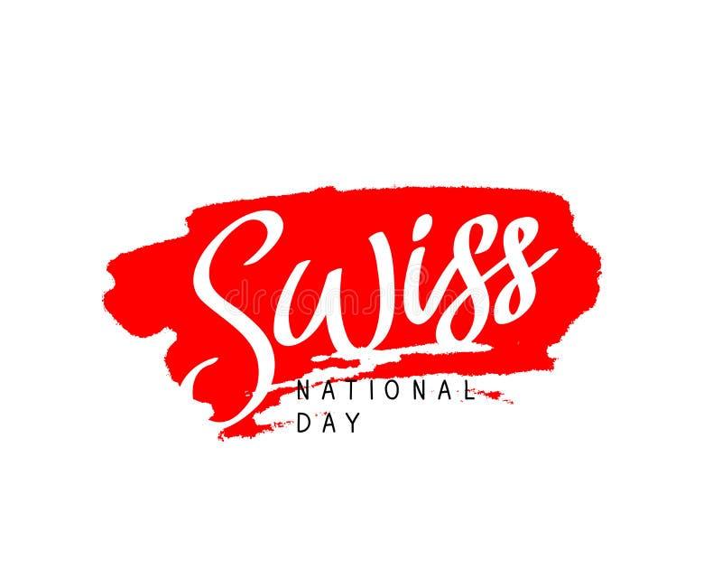 Schweizisk nationell dag vektor vektor illustrationer