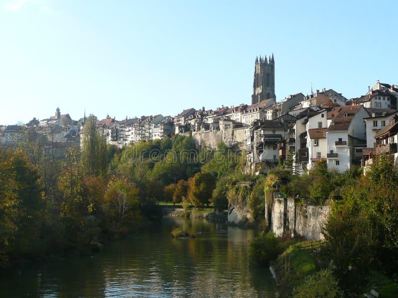 Schweizisk stad arkivbilder