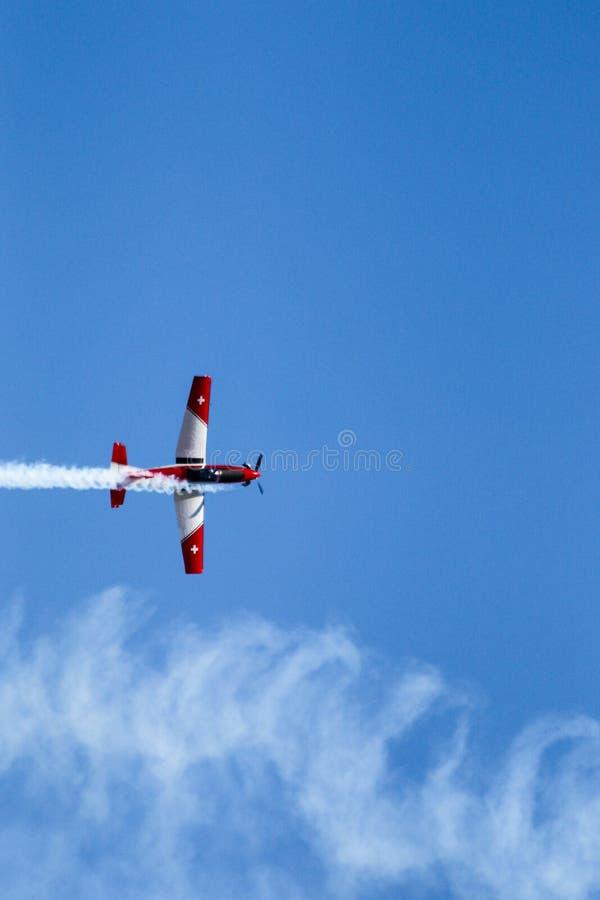 Schweiziskt flygvapen PC-7 fotografering för bildbyråer