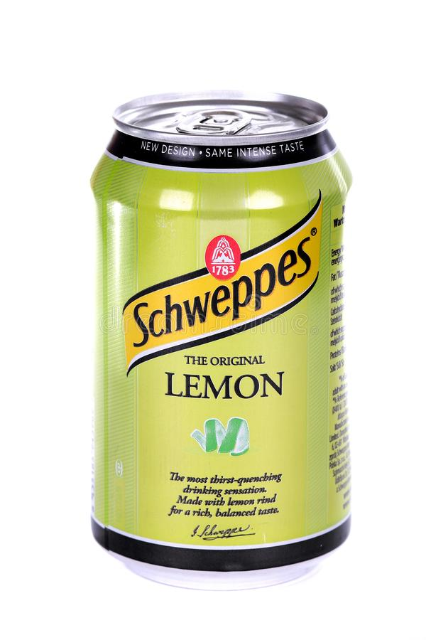 Schweppes citron royaltyfri fotografi