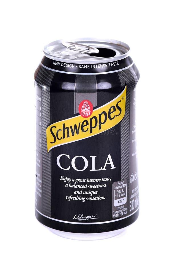Schweppes Cola royaltyfri fotografi
