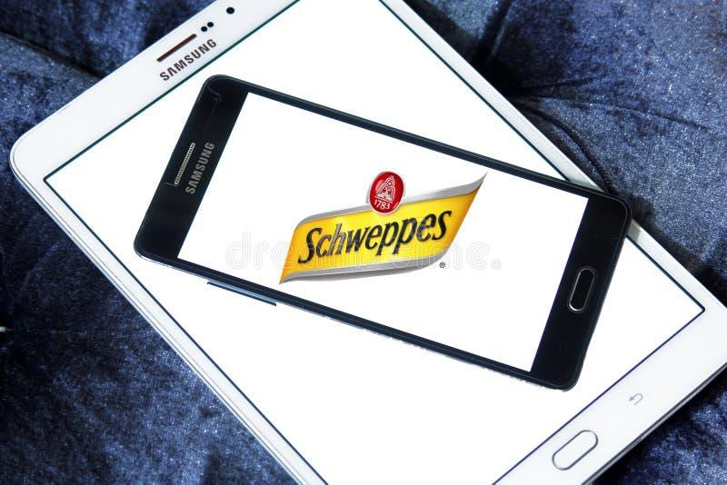 Schweppes logo royaltyfri bild