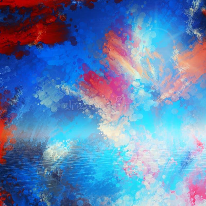 Strukturierter gemalter Ozean lizenzfreie stockfotos