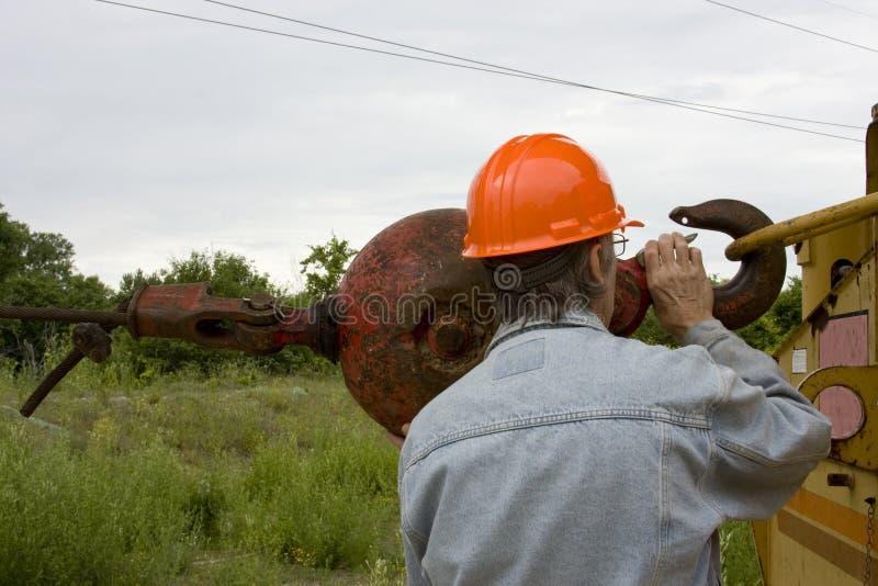 Schwerer Ausrüstungsbau stockfotografie