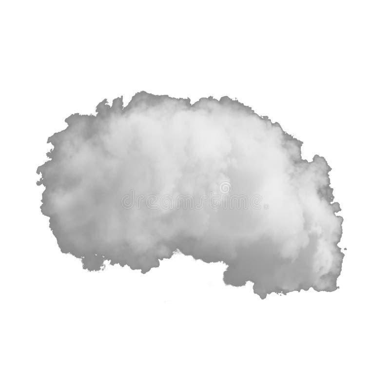 Schwerer Rauch lokalisiert auf einem weißen Hintergrund stockbild
