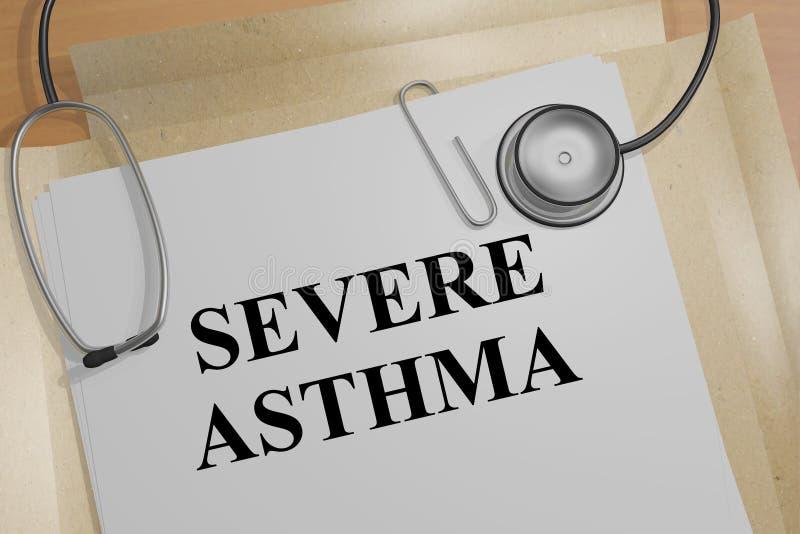 Schweres Asthma - medizinisches Konzept lizenzfreie abbildung