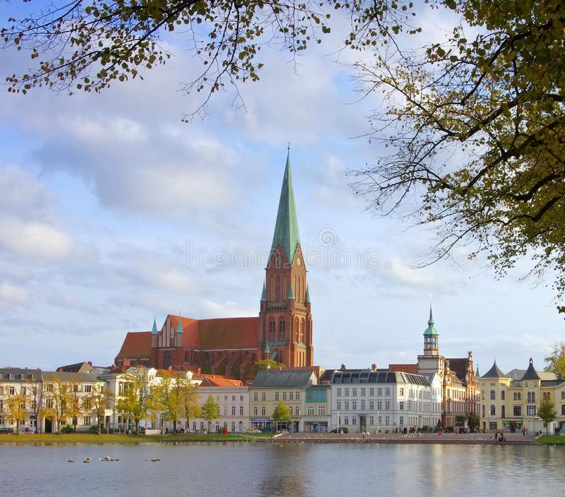 Download Schwerin stock image. Image of townscape, house, cathedral - 28255107