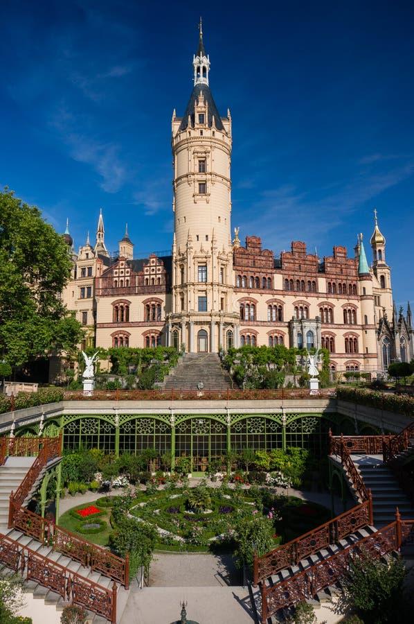 Download Schwerin castle and garden stock image. Image of summer - 39818139
