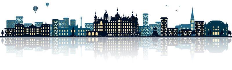 Schwerin germany skyline city isolated vector. Design royalty free illustration