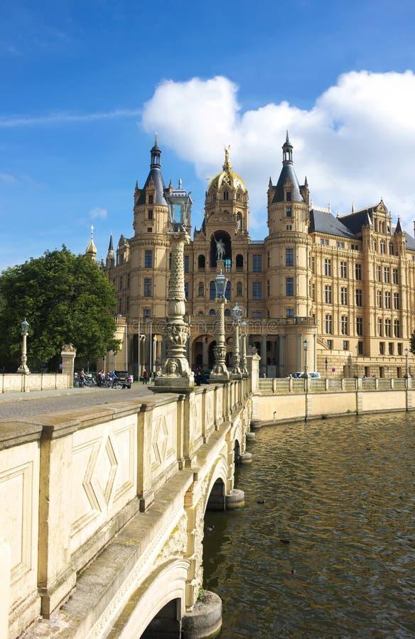 Schwerin kasztel V - majestatyczny - zdjęcia royalty free