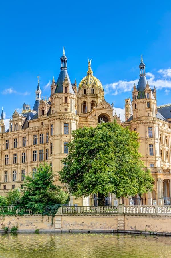 Schwerin pałac w romantycznym Historicism architektury stylu zdjęcia stock
