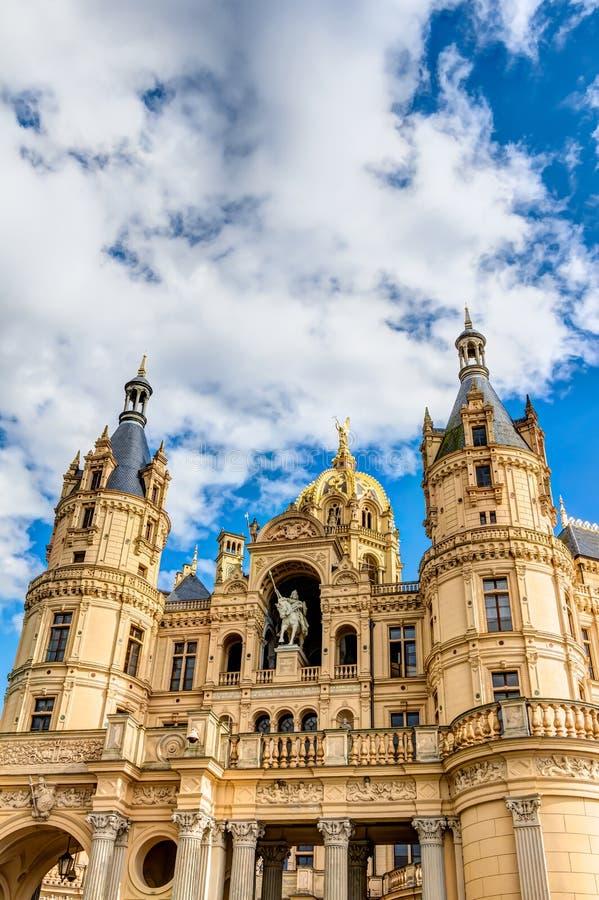 Schwerin pałac w romantycznym Historicism architektury stylu fotografia royalty free