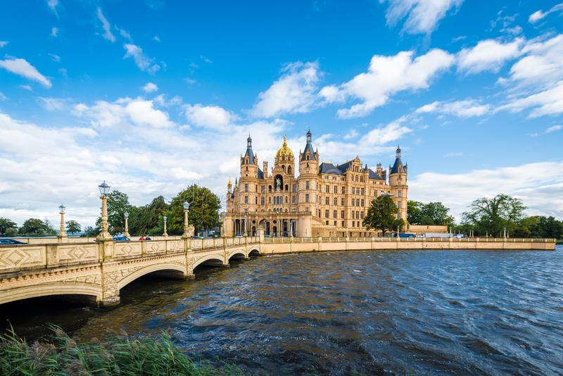Schwerin palace or Schwerin Castle, northern Germany royalty free stock photos