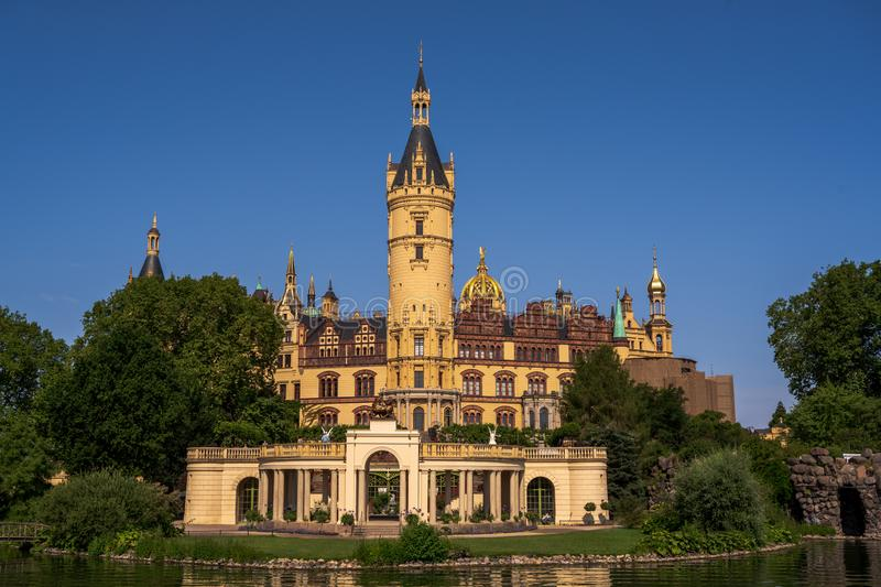 The Schwerin Palace and Gardens royalty free stock images